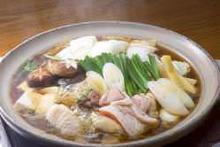 Locally raised chicken sukiyaki