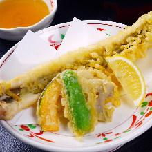 Whole eel tempura