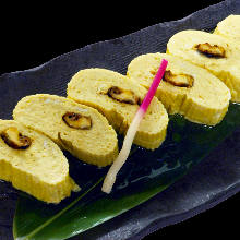 Japanese-style rolled omelet with conger