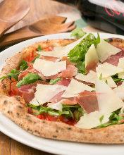 Italisan prosciutto and rocket pizza