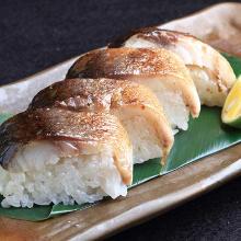 Rice with seared mackerel