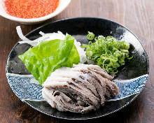 Senmai (omasum) sashimi