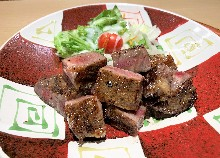 Grilled Wagyu beef loin with soy sauce