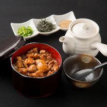 Tori chazuke (chicken and rice with tea)