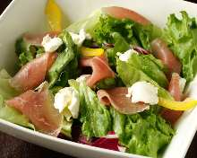 Dry-cured ham and cream cheese salad