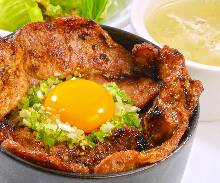 Pork rice bowl