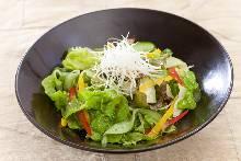 Namul (Korean seasoned vegetables or wild greens) salad