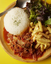 Simmered beef with tomato