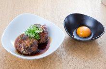 Beef tongue meatball
