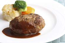 Hamburg steak with demi-glace sauce