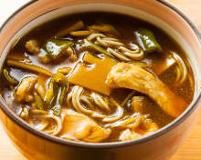 Curry buckwheat noodles