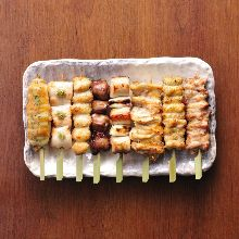 Assorted grilled skewers, 8 kinds