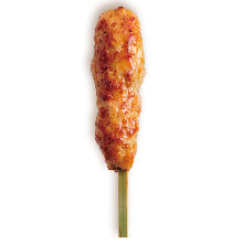 Tare-grilled chicken meatball skewer