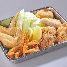 Assorted deep-fried foods