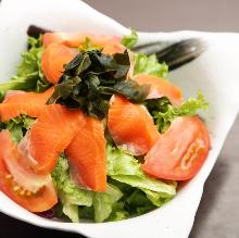 Fatty salmon salad
