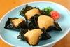 Fried yam wrapped in nori seaweed