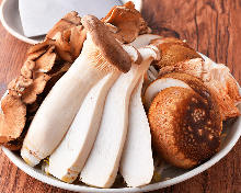 Assorted grilled mushrooms