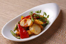 Harbor-style shrimp stir-fry