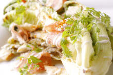 Caesar salad with prosciutto