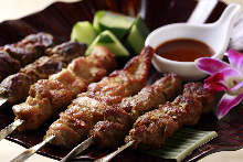 Assorted grilled skewers, 3 kinds