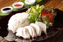 Chicken rice (seasoned with ketchup)