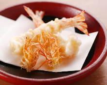 Live shrimp tempura