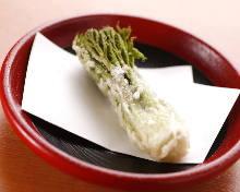 Japanese angelica-tree sprout tempura