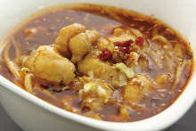 Spicy stewed whitefish