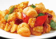 Stir-fried sweet and spicy shrimp