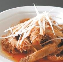 Spicy stir-fried beef honeycomb tripe