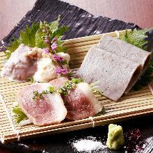 new!! 蕎麦屋の酒肴3種盛り