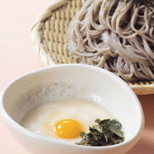 Chilled buckwheat noodles with grated yam