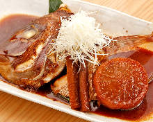 Kabutoni (simmered fish head)
