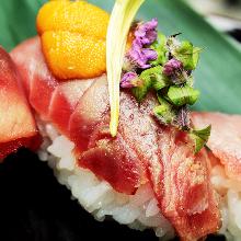 三味寿司【かに・いくら・鮮魚】
