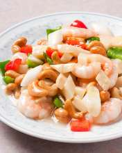 Stir-fried shrimp with salt