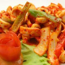 Stir-fried squid with XO sauce