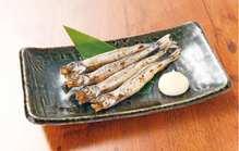 Seared shishamo smelt