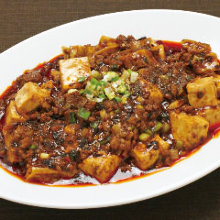 Spicy tofu and ground meat