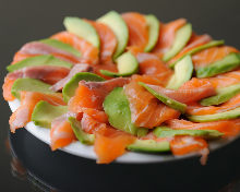 Salmon and avocado salad