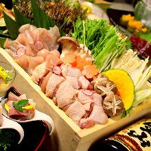 新鮮野菜と銘柄鶏の蒸籠鍋