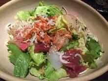 気まぐれ海鮮柚子サラダ