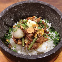 Stone grilled rice