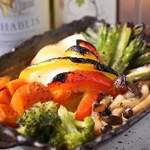 Foil-grilled vegetables