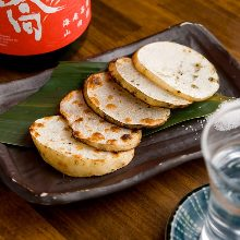 Charcoal grilled Japanese yam