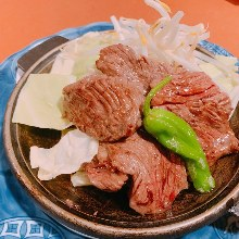 Teppan-grilled beef skirt steak