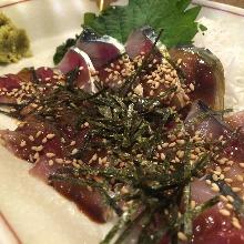 """Goma-saba"" sesame-flavored mackerel (regional dish)"