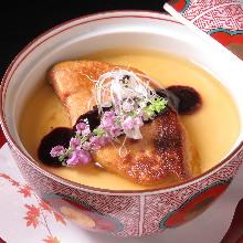 Foie gras chawanmushi (steamed egg custard)