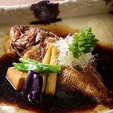 Simmered fish of the day