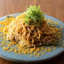 Buckwheat noodles with dried mullet roe
