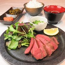 Beef tongue set meal